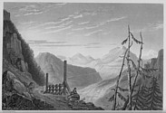 Illustrations of the Passes of the Alps, Brockedon : ascension au Mont-Genèvre, côté Italie