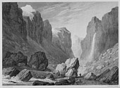 Illustrations of the Passes of the Alps, Brockedon : vallée de la Romanche