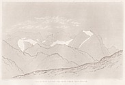Planche IV Outlines sketches of High Alps of Dauphiné
