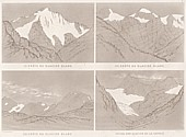 Planche V Outlines sketches of High Alps of Dauphiné