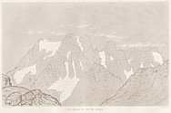 Planche VI Outlines sketches of High Alps of Dauphiné