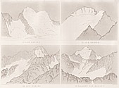 Planche VII Outlines sketches of High Alps of Dauphiné