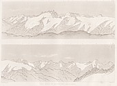 Planches VIII et IX Outlines sketches of High Alps of Dauphiné