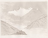 Planche XIII Outlines sketches of High Alps of Dauphiné